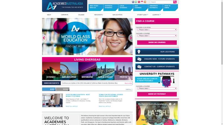 Academies Australia education website