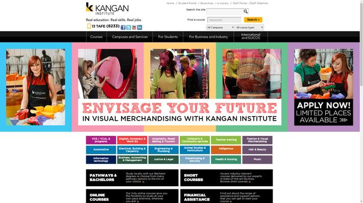 Kangan Institute education website