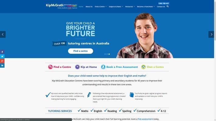 Kip McGrath education website